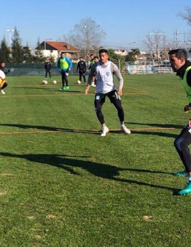 Acción en el PredioTita - Práctica en Avellaneda - La Comu de Racing Club