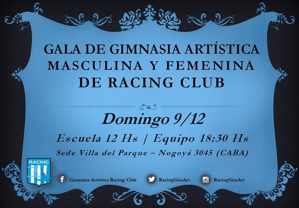 Palpitando la gala de Gimnasia Artística - La Comu de Racing Club