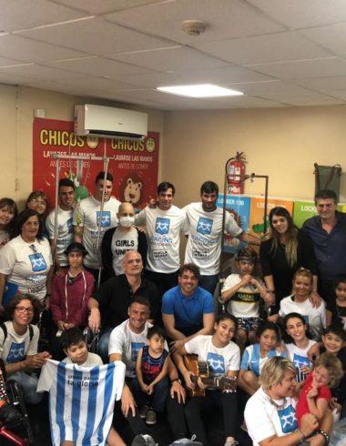 Racing Solidario visitó Casa Garrahan - La Comu de Racing Club