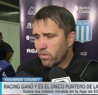 """Coudet: """"Nos enfocamos en nosotros, no pensamos en nada más"""" La Comu de Racing Club"""