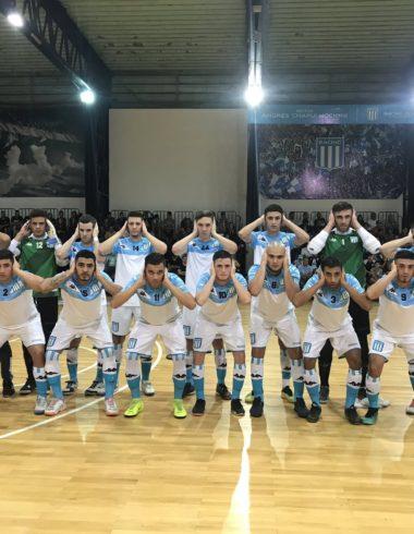 Futsal masculino Racing No se sacaron diferencia