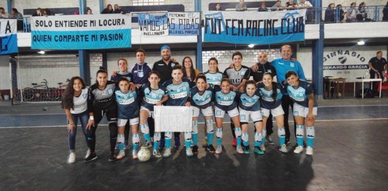 Futsal femenino Se hicieron fuertes en el sur La Comu de Racing Club