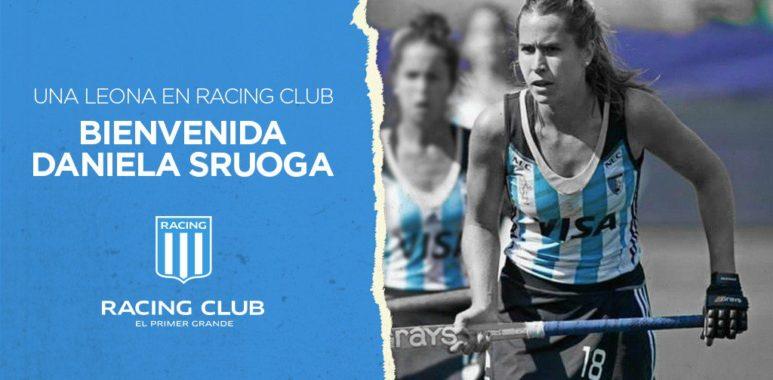 """Daniela Sruoga, """"se está laburando muy bien en el hockey de Racing"""""""