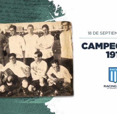 Hace 101 años Racing ganaba su sexto campeonato de Liga