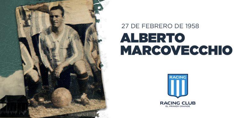 Alberto Marcovecchio, goleador de selección