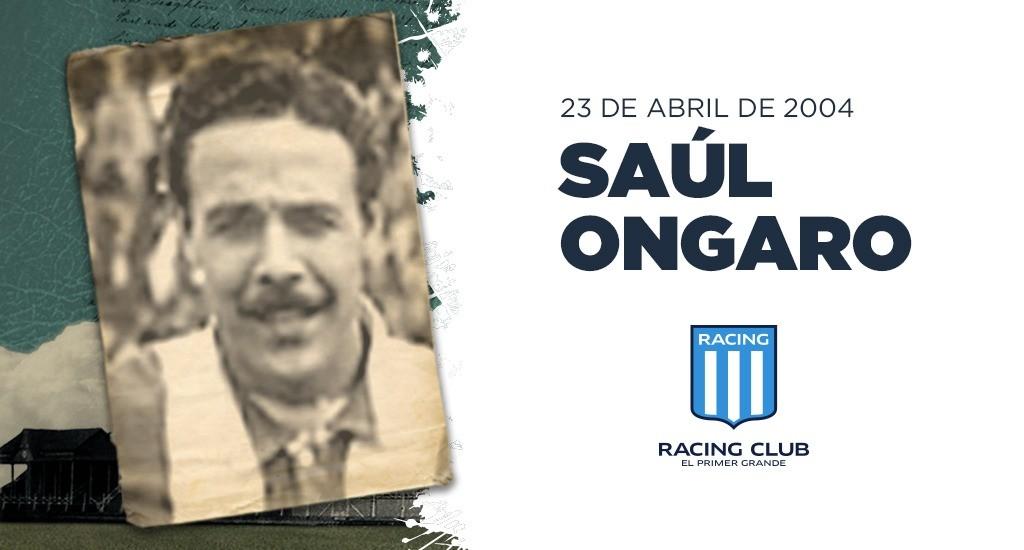 Saúl Ongaro, multicampeón con Racing