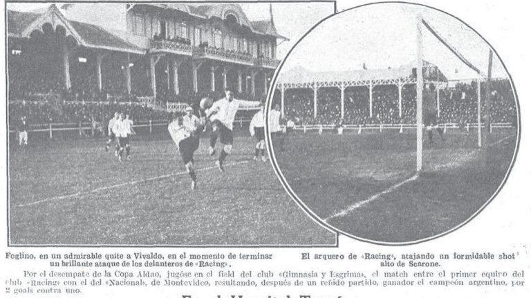 Racing a 102 años de la obtención de la Copa Aldao
