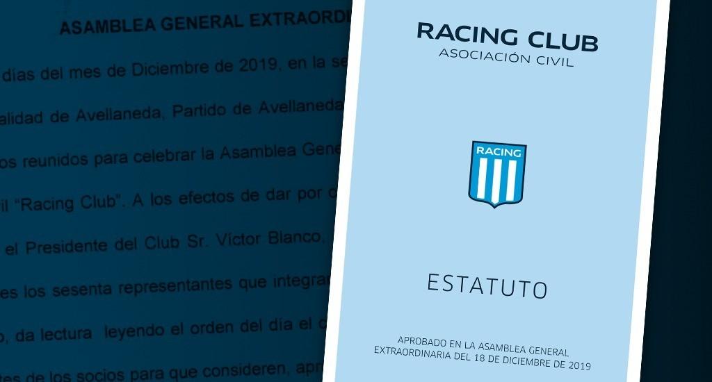 Se publicó el nuevo estatuto de Racing