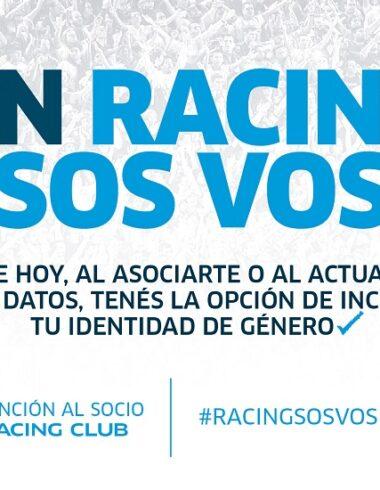 En Racing sos vos