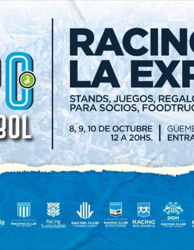 """Se viene la """"Expo Futbol"""" en Avellaneda, ciudad de Racing"""